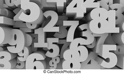""" 3D numbers background"" - ""Abstract 3D numbers background..."