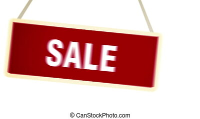 """Sale Banner. "" - ""Sale Banner. Sale Sign animation with..."