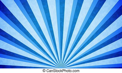 """Blue Sun burst retro background design."" - ""Blue Sun burst..."