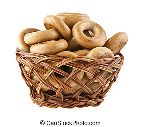 bagels are isolated on a white background
