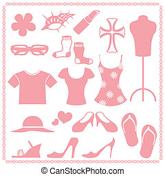 Women\\\'s fashion icon sets