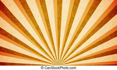 """Orange Sun burst retro background design"" - ""Orange Sun..."