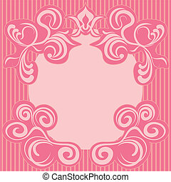 Abstract pink decoration frame