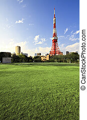 Tokyo Tower - Downtown view with Tokyo Tower - located in...