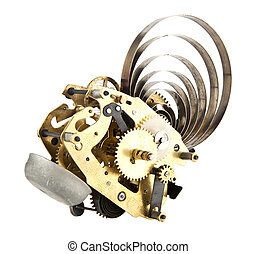 clockwork isolation on a white background