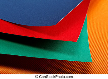 colored sheets of paper close-up