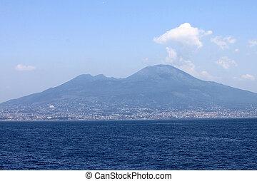 Mount Vesuvius - The view on the great Mount Vesuvius,...