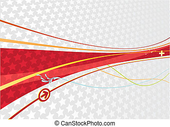 abstract Background - Vector illustration of wavy curved...