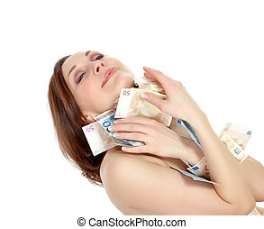 woman with lots of money - naked woman with lots of money