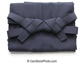 folded hakama, japanese martial arts uniform - folded aikido...