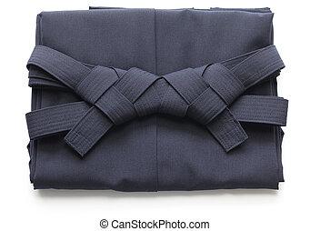 folded hakama, japanese martial arts uniform - folded aikido...