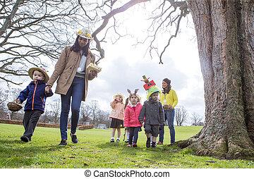 Nursery Easter Egg Hunt - Nursery teachers and students...