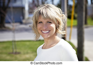 Portrait Of A Mature Woman Smiling - Mature Women, Women,...