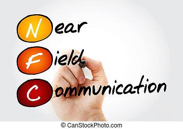 NFC Near Field Communication - Hand writing NFC Near Field...