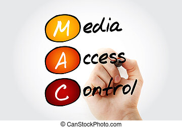 MAC Media Access Control - Hand writing MAC Media Access...