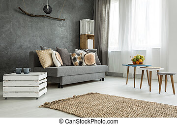 Functional home space ideal for two - New style living room...