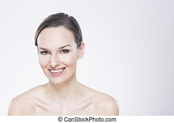 I feel confident and beautiful - Attractive woman with a...
