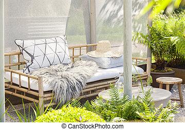 Cozy garden seating - Image of a cozy garden seating area.