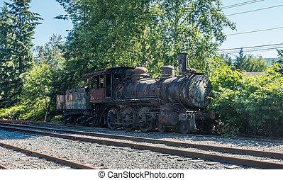 moteur,  train, vieux
