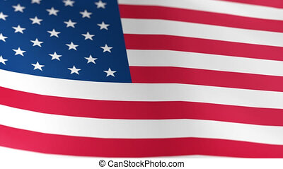 United States Flag USA - American USA Flag swaying on the...