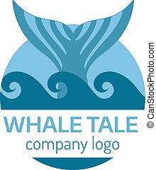 Whale tail label.
