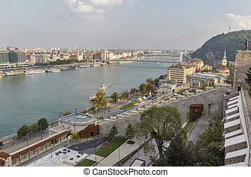 View over Budapest from Buda Castle wall, Hungary