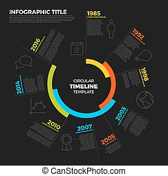 Vector Infographic circular timeline report template with...