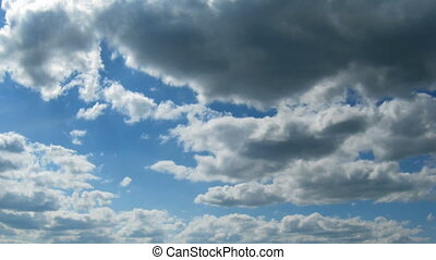 time lapse - clouds moving to you - time lapse with clouds...