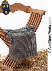 Chainmail on a medieval chair