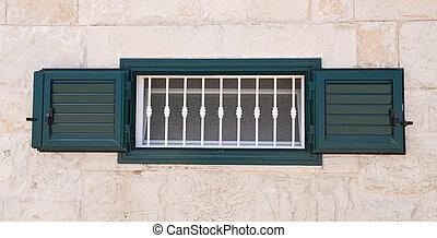 Green shutter.
