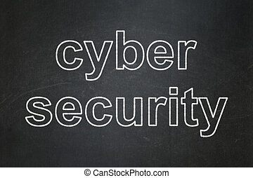 Privacy concept: Cyber Security on chalkboard background