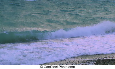 Undulating sea - The waves of the sea one after the other...