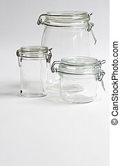 Preserving Jars - Three Glass Preserving Jars