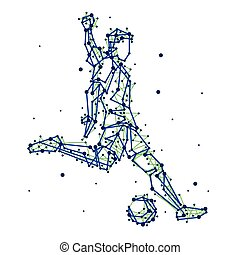 Illustration of abstract football player