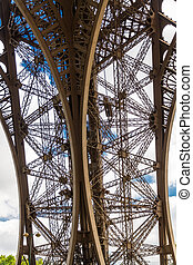 Underside of the Eiffel Tower