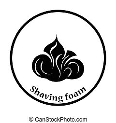Shaving foam icon Thin circle design Vector illustration