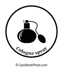 Cologne spray icon Thin circle design Vector illustration