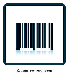 Bar code icon Shadow reflection design Vector illustration...