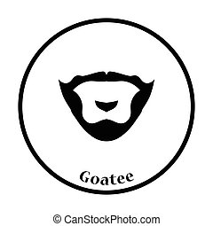 Goatee icon. Thin circle design. Vector illustration.
