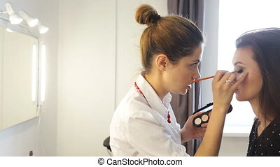Make-up artist work
