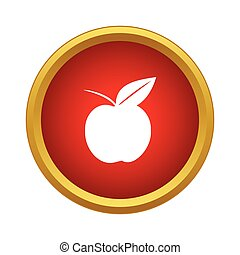 Ripe apple icon, simple style