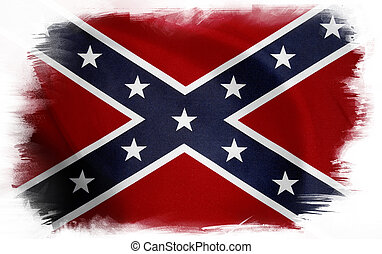 Confederate flag on plain background