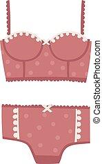Underwear silhouette isolated vector set - Underwear...