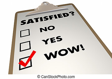 Satisfied Customer Satisfaction Index Survey Checklist 3d...