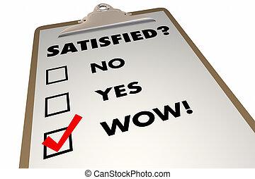 Satisfied Customer Satisfaction Index Survey Checklist 3d...