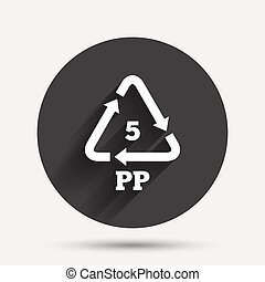 PP 5 icon Polypropylene thermoplastic polymer - PP 5 icon...