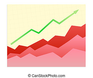 Shiny graph - Vector illustration - Shiny graph of success...