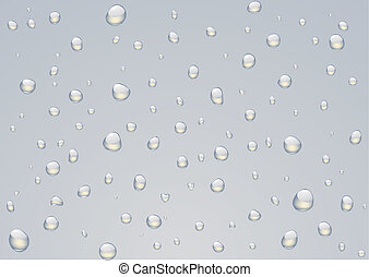 Rain drops - Vector illustration of Rain drops on a window
