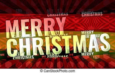 merry christmas red background 3d render