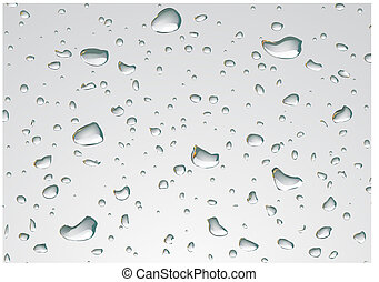 Rain drops - Vector illustration of Rain drops on a window.